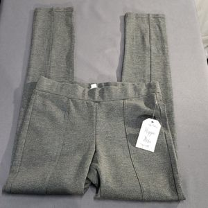 Hippie Rose Dark Grey Casual Leggings Size Sm (A2)